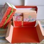 Stationery Box - Peach, Orange and ..