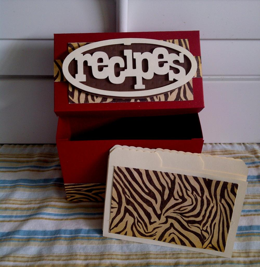 Recipe Box - Animal Print