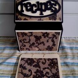 Recipe Box - Black Lace